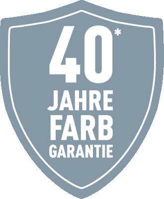 PREFA - 40 Jahr Farbgarantie